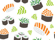 Different Sushi Seamless Pattern Royalty Free Stock Images