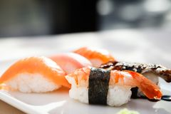 Different sushi set Royalty Free Stock Photo