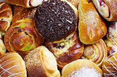 Different sweet buns Stock Images