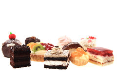 Different sweet deserts isolated Royalty Free Stock Photo