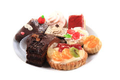 Different sweet deserts isolated Royalty Free Stock Images