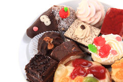 Different sweet deserts isolated Royalty Free Stock Photography