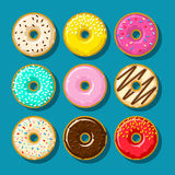 Different sweet donuts Royalty Free Stock Photos