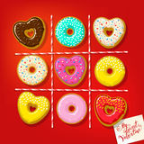 Different sweet donuts Stock Images