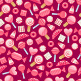 Different sweets. Assorted candies seamless background. Stock Images