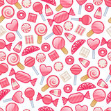 Different sweets. Assorted candies seamless background. Royalty Free Stock Photo