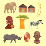 Different Symbols Of Africa Royalty Free Stock Image