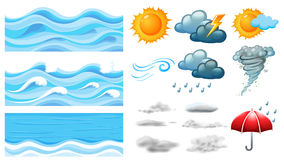 Different symbols of weather Royalty Free Stock Photography