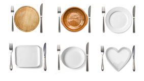 Different tableware isolated Stock Image