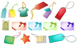 Different tag designs stock illustration