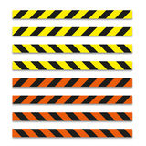 Different tape danger illustration with shadow Stock Photos