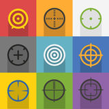 Different targets collection. Vector illustration Stock Photos