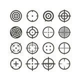 Different targets collection. Vector silhouettes Royalty Free Stock Photos