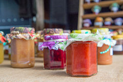 Different tastes home made jam Royalty Free Stock Photography