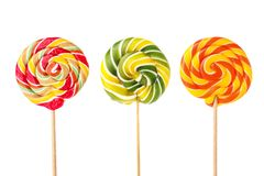 Different tasty colorful candies. On white background royalty free stock photography