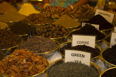 Different tea flavors found in flea market, India Stock Image