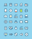 Different tech equipment icons Royalty Free Stock Photo