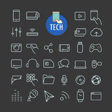 Different tech icons vector collection Stock Image