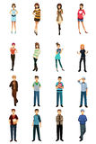Different teenagers in different styles and poses Royalty Free Stock Photography