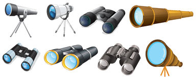 Different telescope designs Royalty Free Stock Photos
