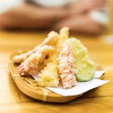 Different tempura vegetables Royalty Free Stock Photo