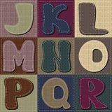 Different texture alphabet scrapbook Stock Photos