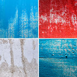 Different textures of cracked wall Royalty Free Stock Photos