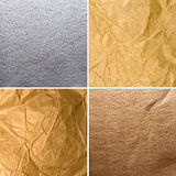 Different textures of old paper Royalty Free Stock Photos