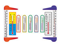 Different thermometers Stock Photography