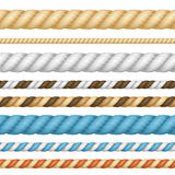 Different Thickness Rope Line Set. Vector Royalty Free Stock Photography