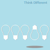 Different thinking Royalty Free Stock Image