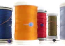 Different thread reels Stock Image