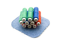 Different thread rolls Stock Photo