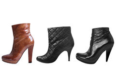 Different of three woman boot. Isolated on white Royalty Free Stock Photography