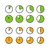 Different time icons  on white Royalty Free Stock Photos