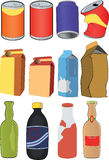 Different tins,bottles ,packages Stock Photography