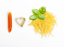 Different tipe of pasta Stock Images