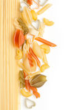 Different tipe of pasta Royalty Free Stock Image