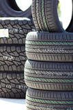 Different Tires for Sale Royalty Free Stock Image