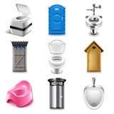 Different toilets icons vector set vector illustration