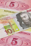 Different Tolar banknotes from Slovenia Royalty Free Stock Images