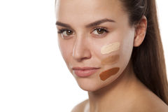 Different tones of foundation stock image