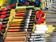 Different Tools. For sale in a streetside shop in India Royalty Free Stock Photos