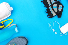 Different tools and accessories for sport Royalty Free Stock Photo