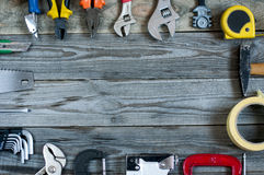 Different tools on board Stock Photos