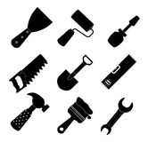 Different tools icon vector illustration set1 Royalty Free Stock Image