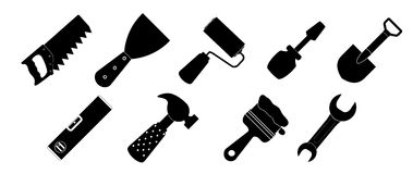 Different tools icon vector illustration set1 Stock Images