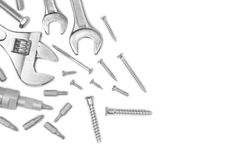 Different tools and screws Stock Photography