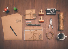 Different tools on table Royalty Free Stock Images
