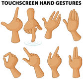Different touchscreen hand gestures Stock Image